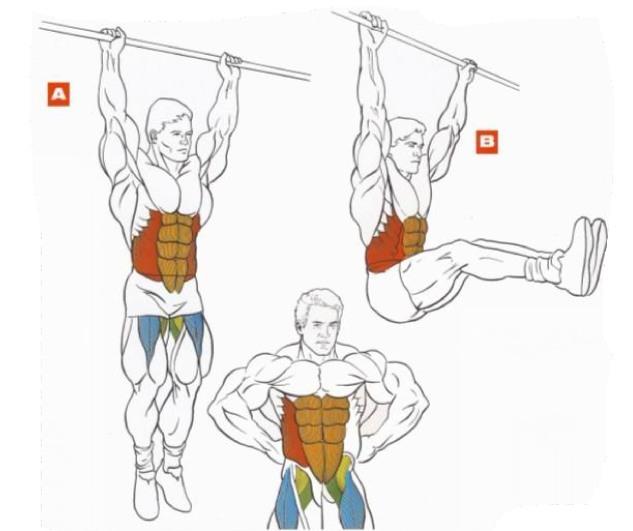 Упражнение для мышц пресса - подъемы ног в висе. фото f_4f7171037aac2.jpg.