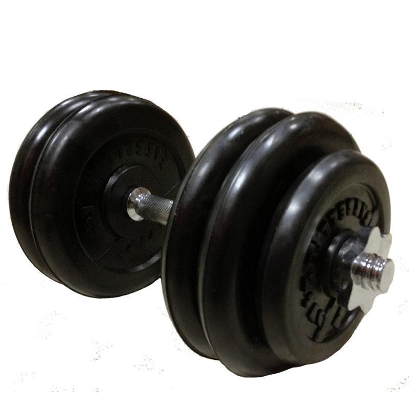 Гантель обрезиненная разборная АТЛЕТ 27,5 кг
