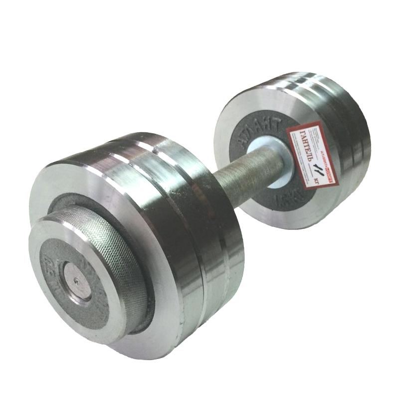 Гантель металлическая разборная АТЛАНТ 11 кг