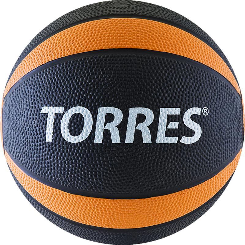 Медбол TORRES 2 кг, резина, диаметр 19,5 см