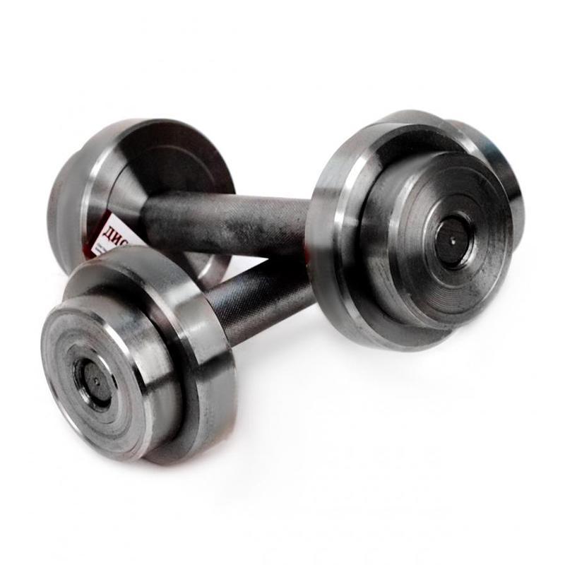 Гантель металлическая разборная АТЛАНТ 2 кг