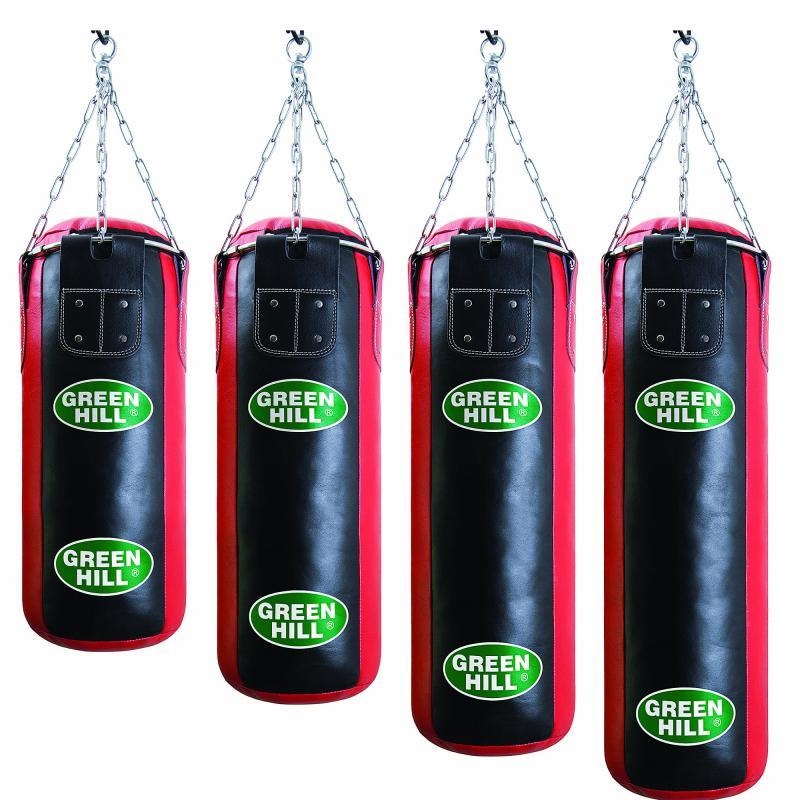 Боксерский мешок 09м 25кг green hill (pbs, черно-красный)