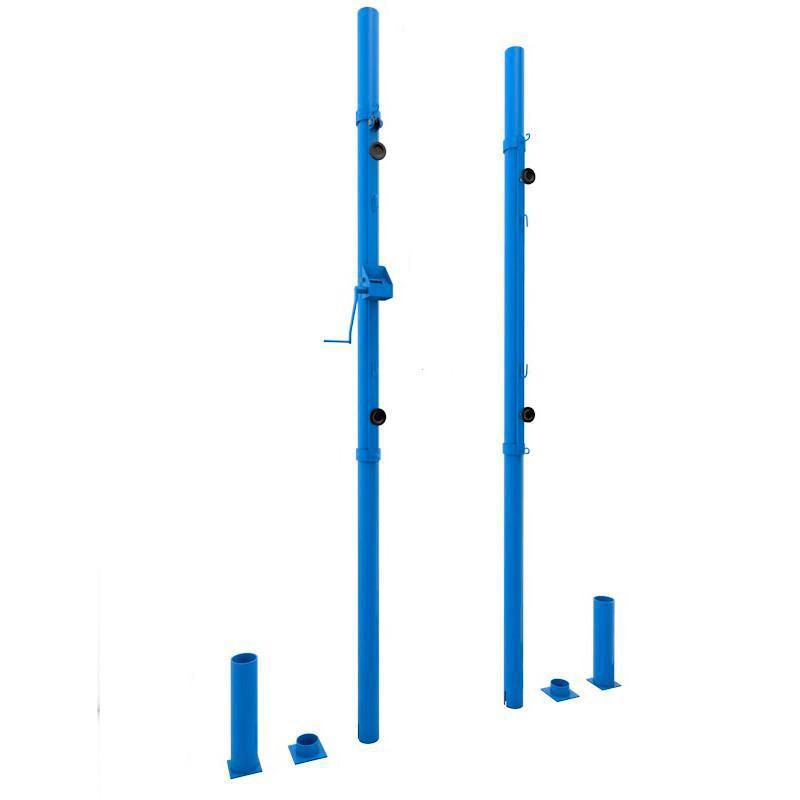 Стойки для волейбола и большого тенниса универсальные со стаканами, крышками и механизмом натяжения
