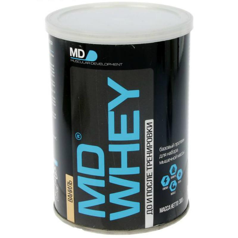 Протеин MD Whey 60% ультрафильтрационный концентрат сывороточного белка 300 г