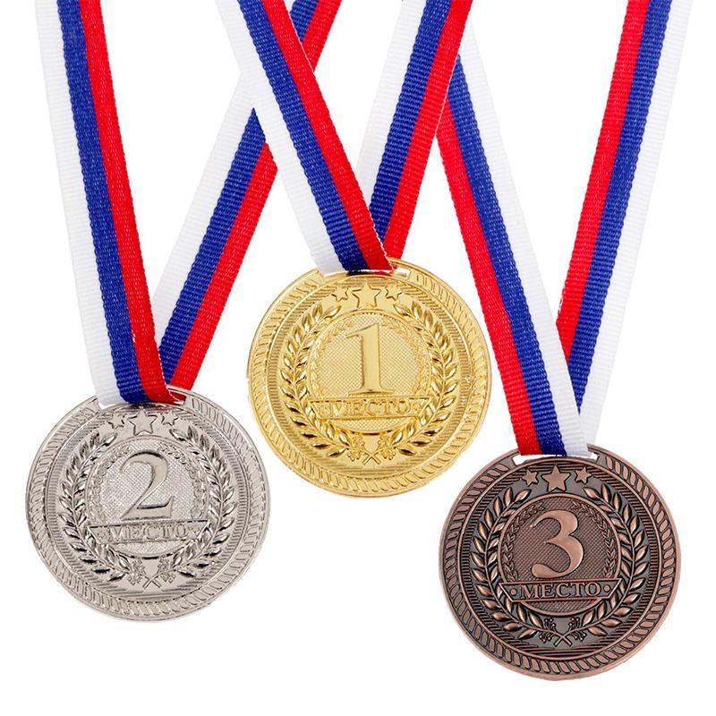 Медаль 5 см c лентой в комплекте SL 063