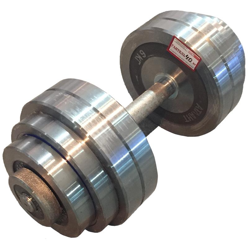 Гантель металлическая разборная АТЛАНТ 40 кг