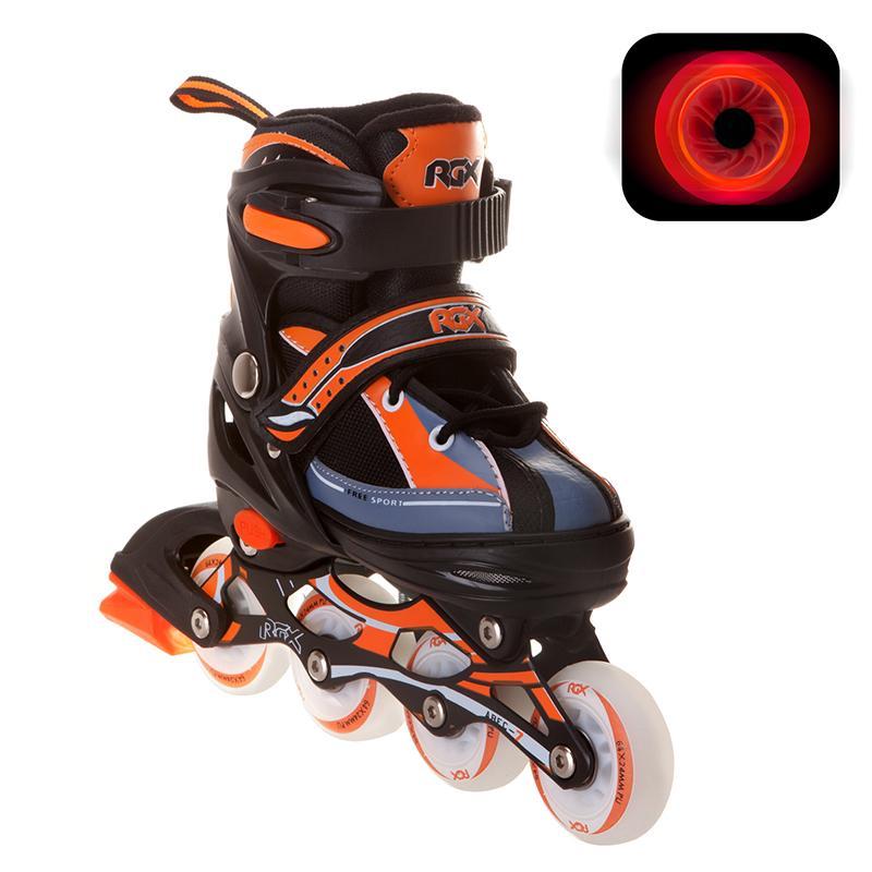 Раздвижные роликовые коньки RGX Fantom (LED подсветка колес)