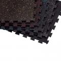 Напольное покрытие интерлок - черное с серым вкраплением (Упаковка из 4 шт.) RFPM4G