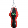 Мешок боксерский фигурный с подвесной системой GREEN HILL PB-9010 80 см, диаметр 40 см, нат кожа