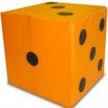 Кубик - кость мягкий модуль 30х30х30 см (поролон, винилискожа)