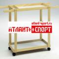 Деревянная тележка мобильная АТЛАНТ для детского спортивного инвентаря