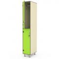 Шкаф односекционный двухярусный пластиковый 040-1658