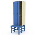Шкаф двухсекционный пластиковый на скамье-подставке 040-2952