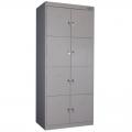 Модульный металлический шкаф (локер) для хранения обуви, сумок, аксессуаров (2 секции с 8 шкафами)