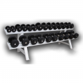 Гантельный ряд обрезиненный IK на 10 пар от 2 до 20 кг с шагом 2 кг