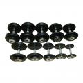 Гантельный ряд обрезиненный MATRIX на 10 пар от 2,5 до 25 кг