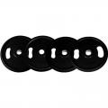 Диск обрезиненный с ручками NT121NС 20 кг черный диаметр 26мм, 31 мм, 50 мм
