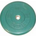 Диск обрезиненный цветной MB Barbell вес 10 кг диаметр 26мм, 30 мм, 50 мм