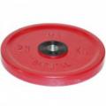 Диск обрезиненный цветной олимпийский MB Barbell Евро-классик вес 25 кг диаметр 51 мм
