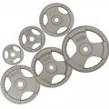 Диск металлический окрашенный с тройным хватом HKPL108 15 кг хамертон диаметр 26 мм