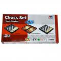 Набор игр 3 в 1 шашки, шахматы, нарды 23 см LJ1012