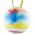 Мяч-попрыгун детский с ручками Радуга 50 см