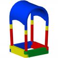Детская пластиковая песочница ЭКП Купол П4К