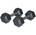 Гантельный ряд шестигранных обрезиненных гантелей от 1 до 10 кг со стойкой в комплекте NT809B