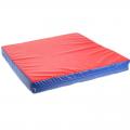 Мат гимнастический 100х100х10 см ( цветной, чехол винил-кожа, наполнитель поролон)
