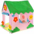 Игровая палатка СЛ Домик с цветочками