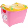 Ящик для игрушек Супер-пупер с крышкой на колёсиках 30,5 х 30,5 х 40 см