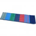 Сенсорная дорожка 40х210 см (ткани разной шероховатости и температуры, пуговицы, стропа) №3 арт.5921