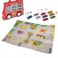 Игровой набор СЛ: 9 машинок в чемодане-машине+ коврик со знаками, размер коврика 70х80