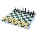 Шахматные фигуры деревянные с мягкой доской СЛ
