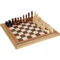 Игра настольная подарок СЛ 3 в 1 нарды шахматы шашки дерево, игр поле 40*40см
