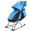 Санки-коляска DamiBaby с 4 колёсиками СЛ