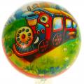 Мяч детский ПВХ разноцветный с рисунком 23 см