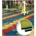 Резиновая плитка Tile and Roll 500х500 мм 40 мм, рельефное основание