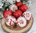 Новогодние шары SL Ёлочки (набор 8 шт.)