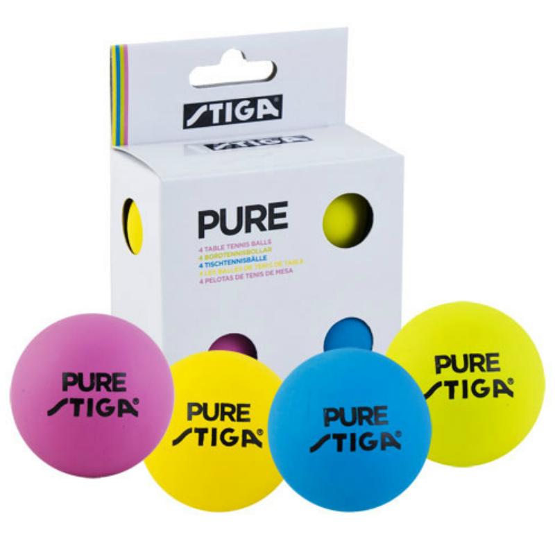 Мячи для настольного тенниса Stiga Pure (4 шт.)