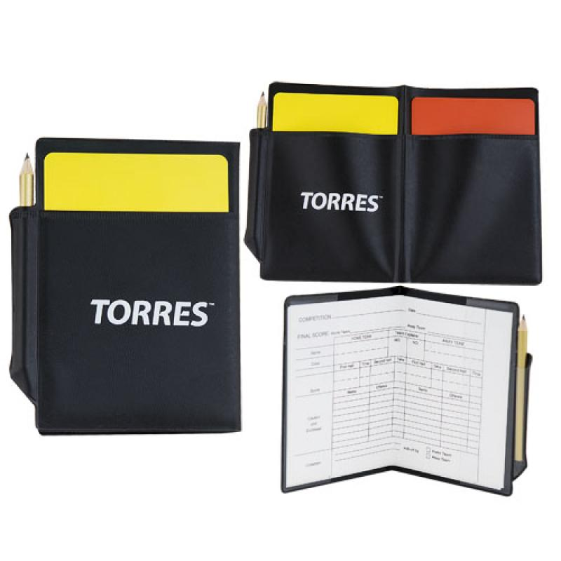Бумажник судейский TORRES SS1155 в комплекте 2 карточки, протоколы, карандаш