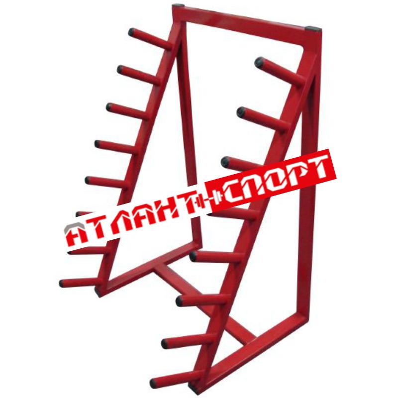 Стойка для бодибаров АТЛАНТ 8 местная односторонняя наклонная
