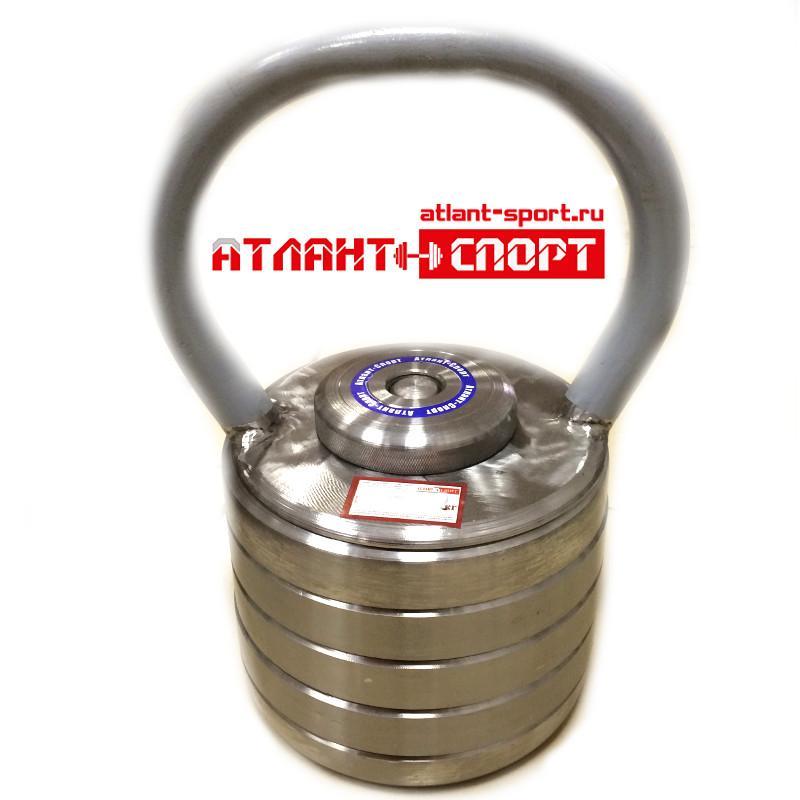 Гиря наборная металлическая АТЛАНТ 24 кг