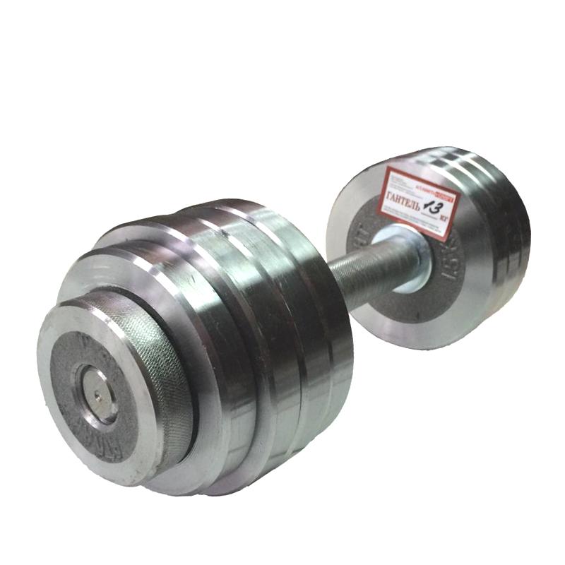 Гантель металлическая разборная АТЛАНТ 13 кг