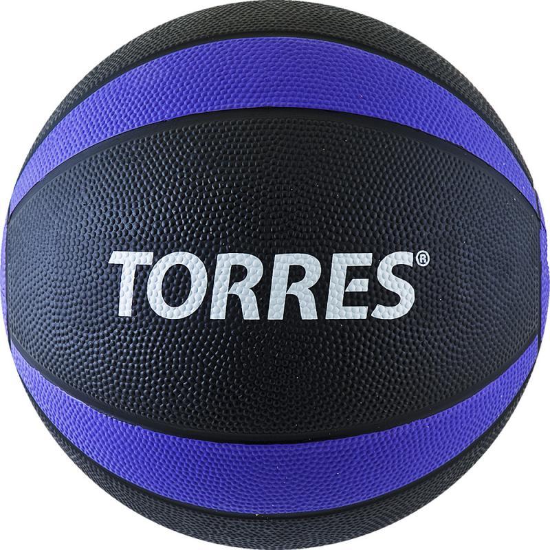 Медбол TORRES 5 кг, резина, диаметр 23,8 см