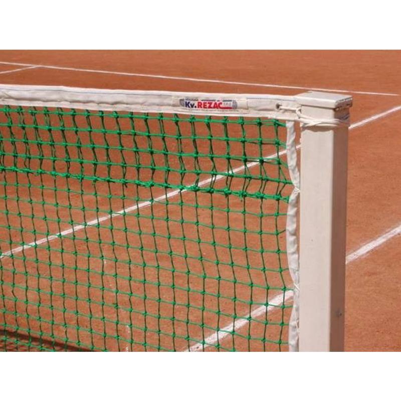 Сетка для большого тенниса KV.REZAC 21005215 (зеленая нить 3 мм)