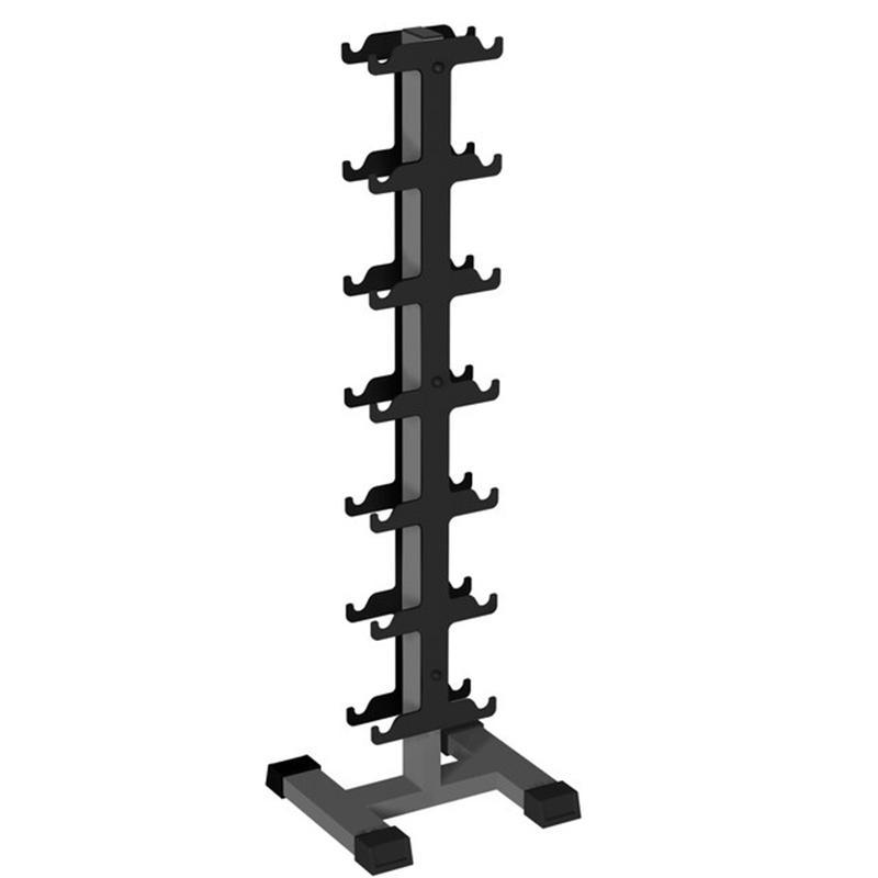 IK 204 Стойка для профессиональных гантелей вертикальная на 7 пар (450*500*1550)