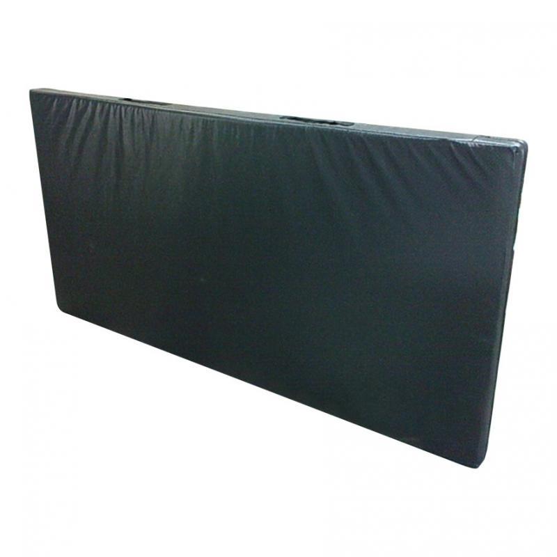 Мат гимнастический 200 х 100 х 6 см (черный, тент, наполнитель поролон)