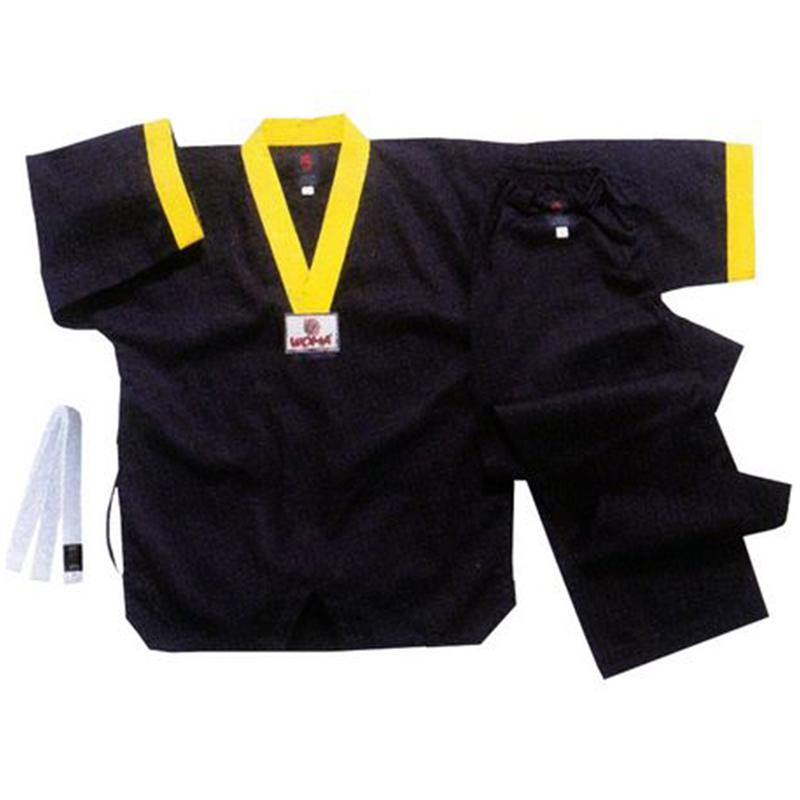 Униформа для таэквондо черная 130-180 см
