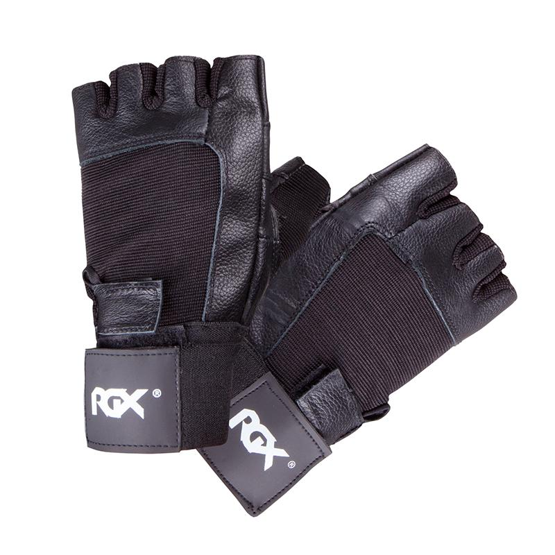 Перчатки для фитнеса PWG-92 кожа Black